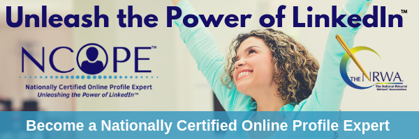 NCOPE Header with logo and smiling woman Unleash the Power of LinkedIn